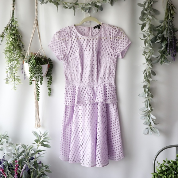 Banana Republic Dresses & Skirts - Banana Republic lilac peplum dress 0223